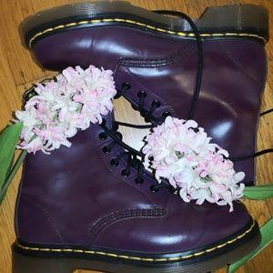 Purple Dr. Martens boots